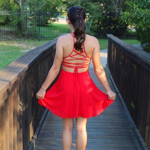 Lulu's Dresses & Skirts - Lulu's red dress